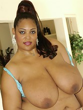 BBWs huge tits bust out of her bra...