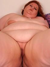 Pretty brunette bbw Amnita fondles...