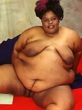 Heavy Ebony Fat Chick Showing Fat...